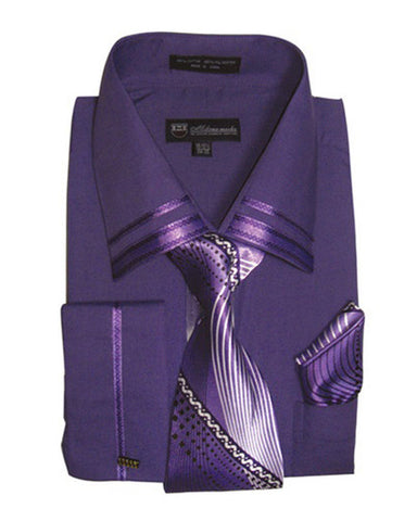 Milano Moda Shirt SG-28-Purple