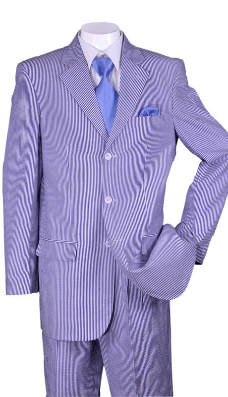 Fortino Landi Men Suit ST802-Blue - Church Suits For Less