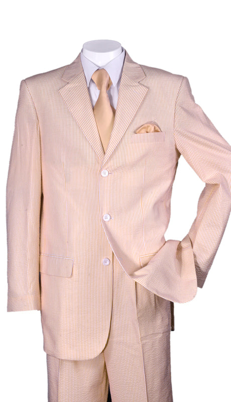 Fortino Landi Men Suit ST802-Peach - Church Suits For Less
