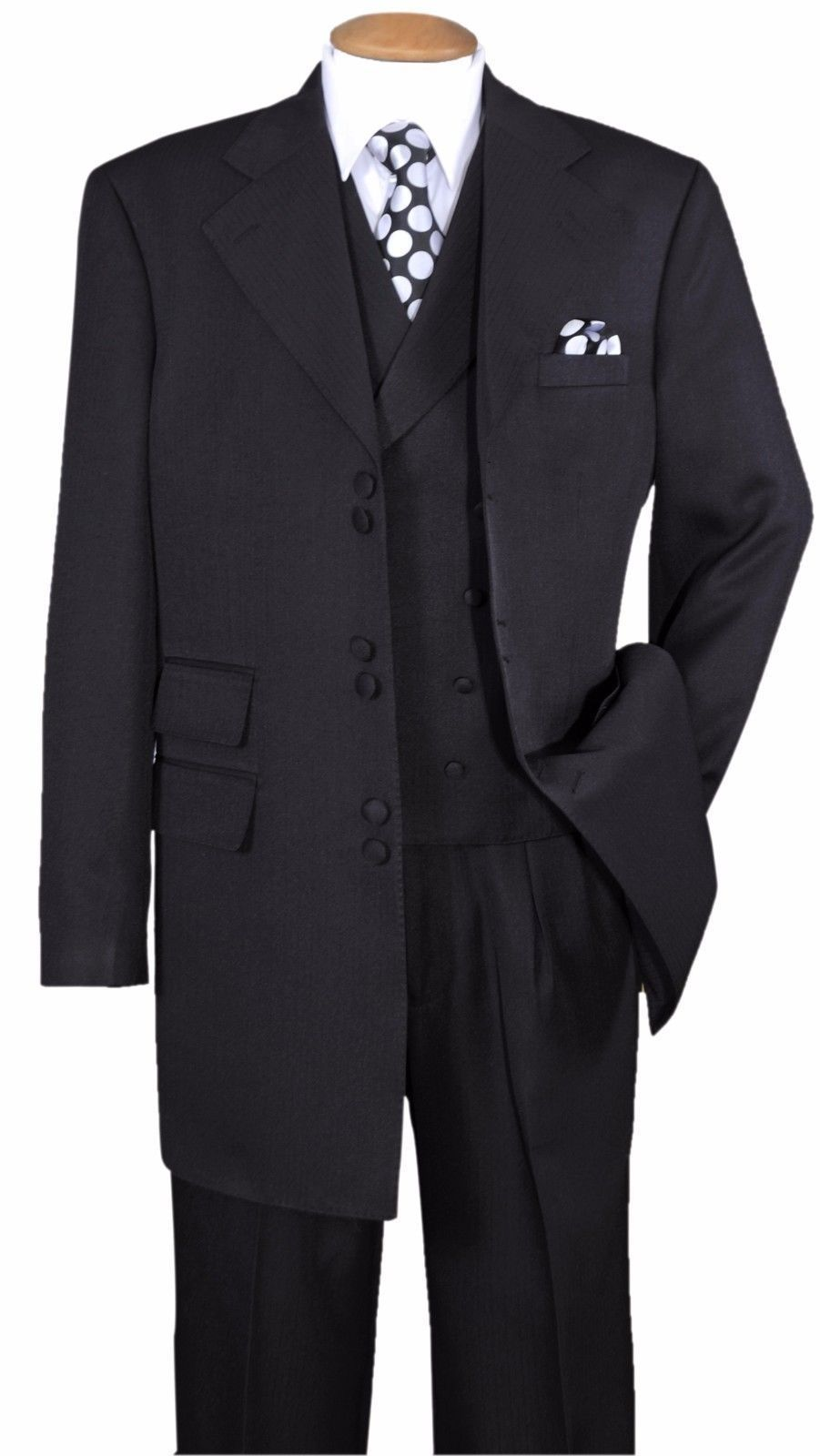 Milano Moda Suit 2917V-Black - Church Suits For Less