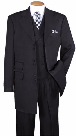 Milano Moda Suit 2917VC-Black - Church Suits For Less