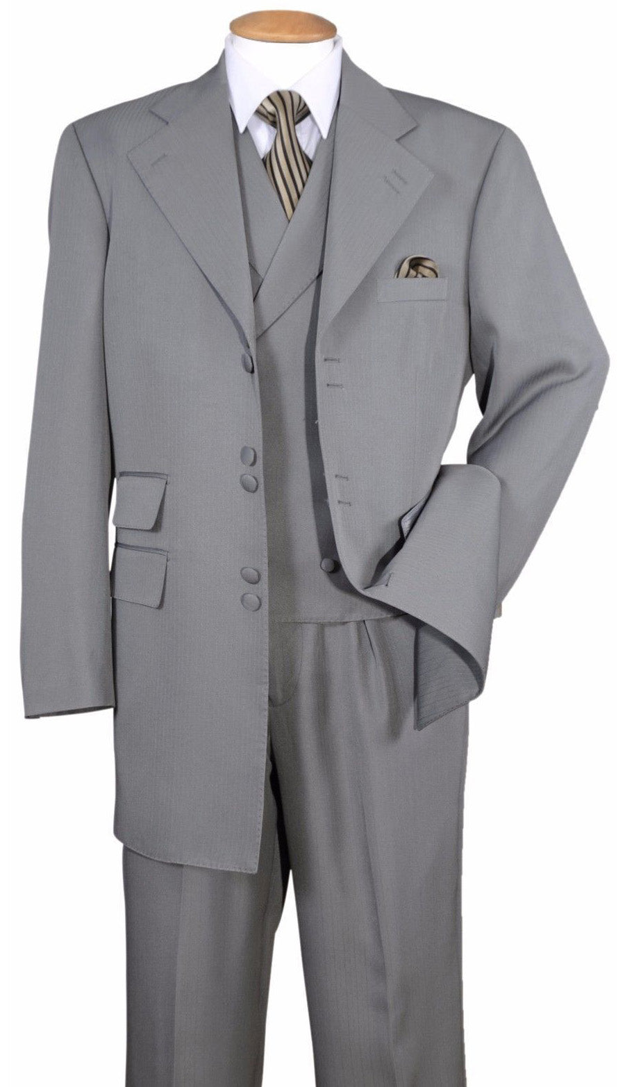 Milano Moda Suit 2917V-Grey - Church Suits For Less