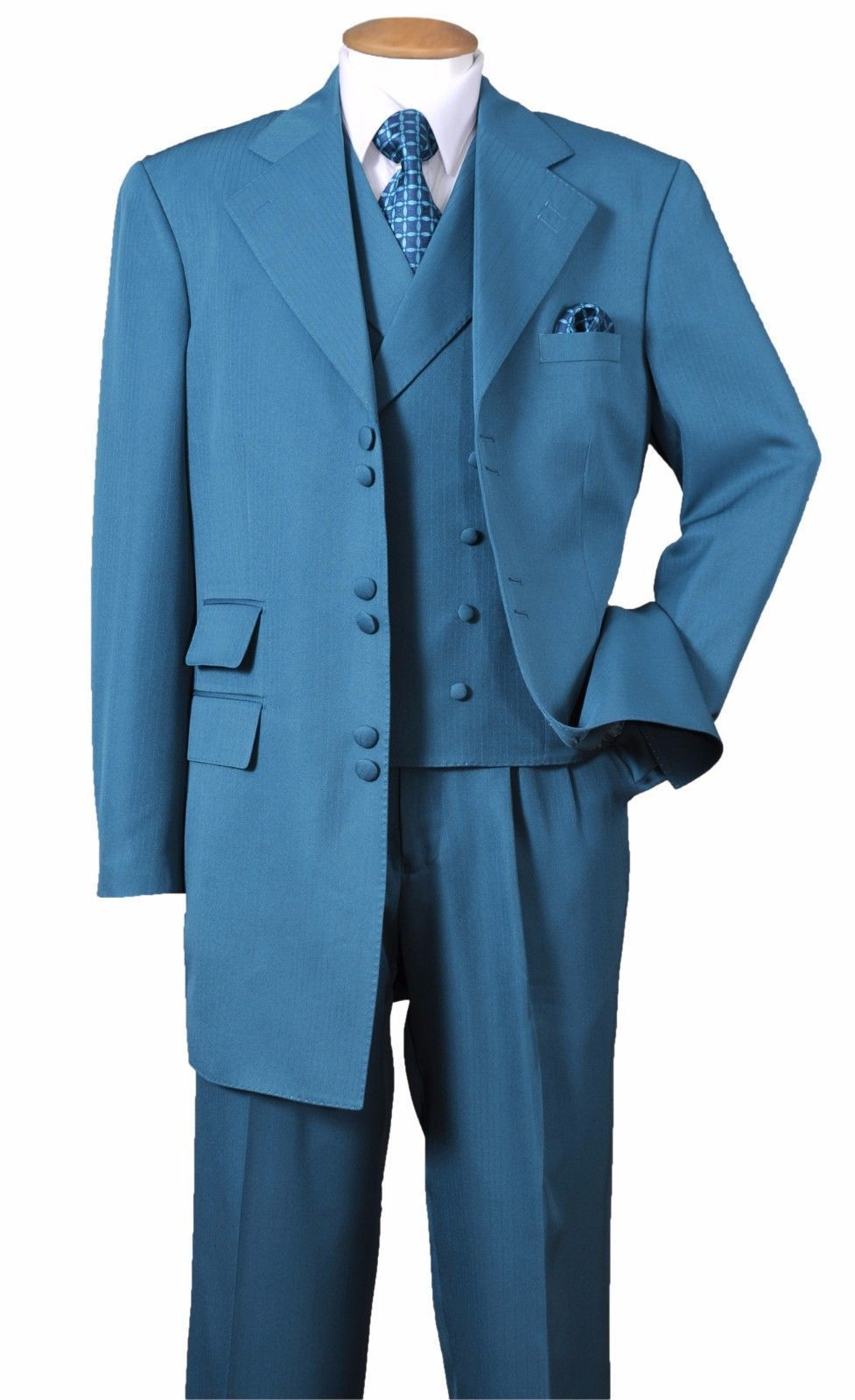 Milano Moda Suit 2917V-Turquoise - Church Suits For Less