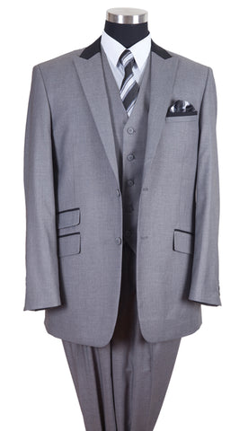Milano Moda Men Suit-57023-Grey