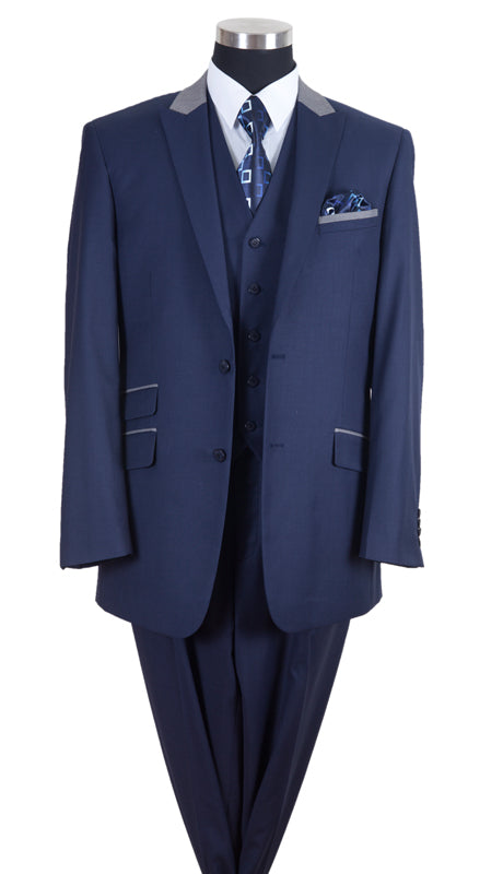 Milano Moda Men Suit-57023-Navy - Church Suits For Less