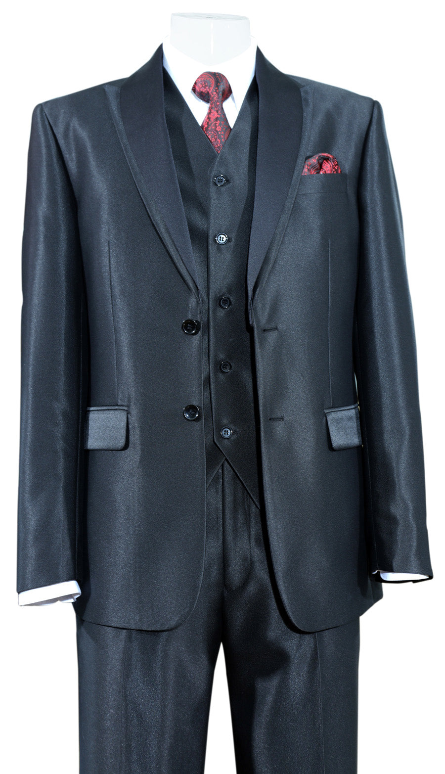Fortino Landi Suit 5702V5-Black - Church Suits For Less