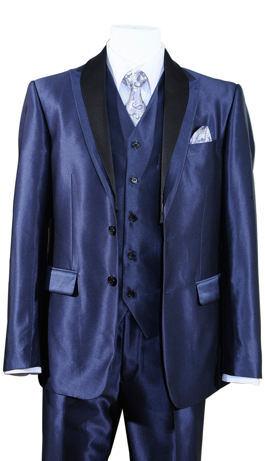 Fortino Landi Suit 5702V5-Navy - Church Suits For Less