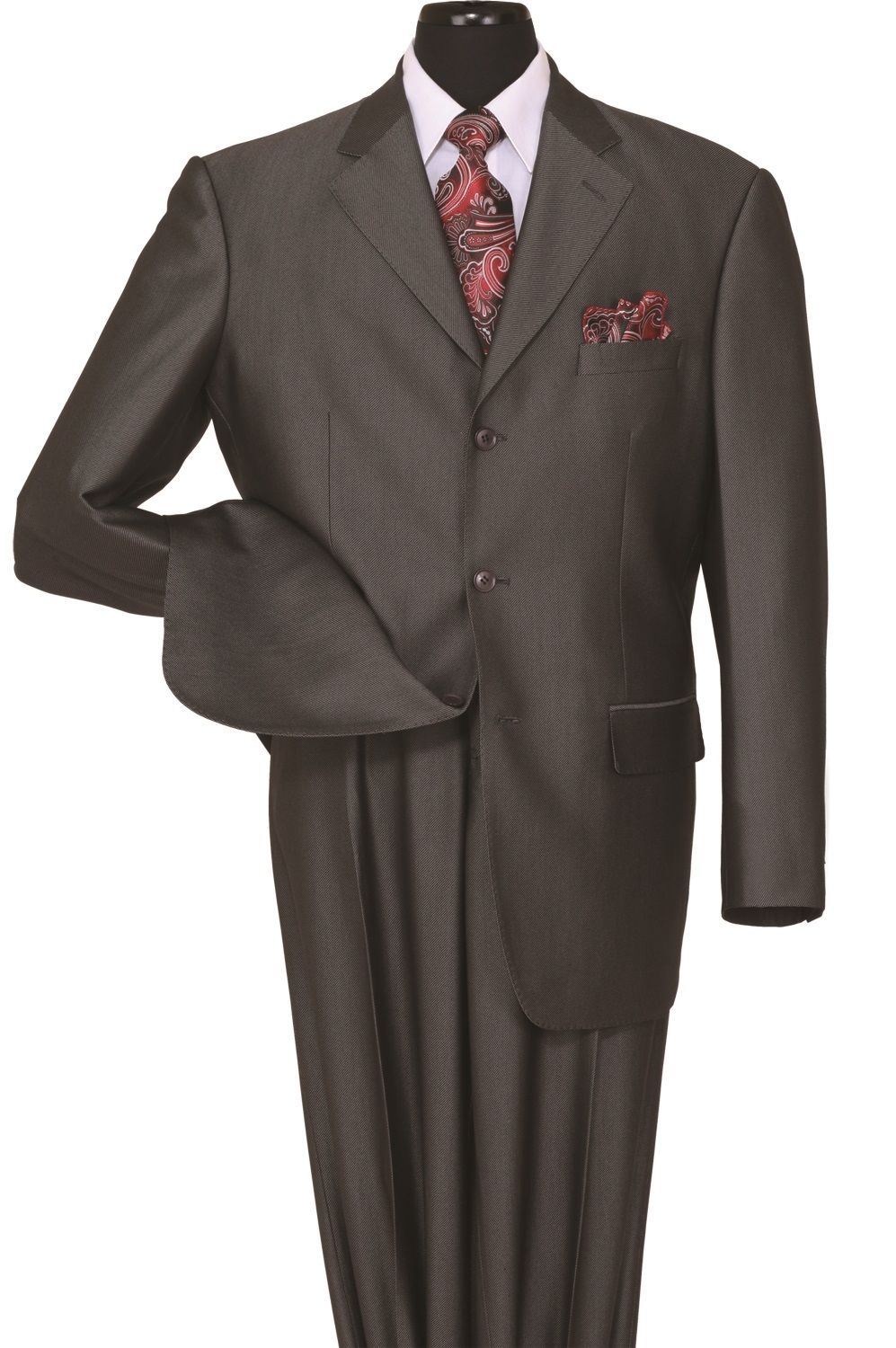 Milano Moda Men Suit 58025-Black - Church Suits For Less