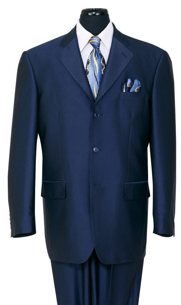 Milano Moda Men Suit 58025-Navy - Church Suits For Less