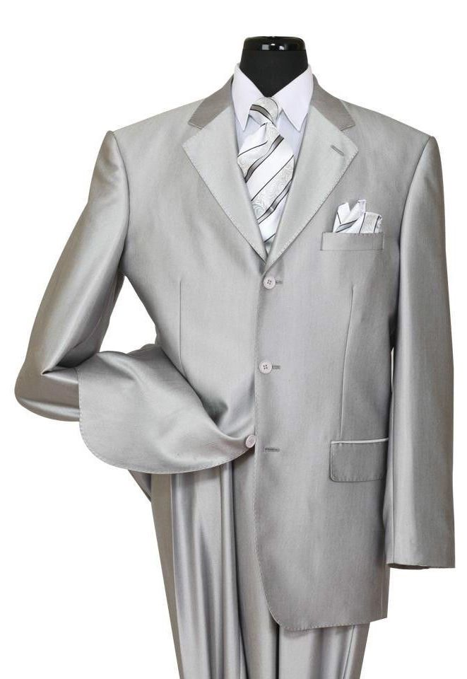 Milano Moda Men Suit 58025-Silver - Church Suits For Less