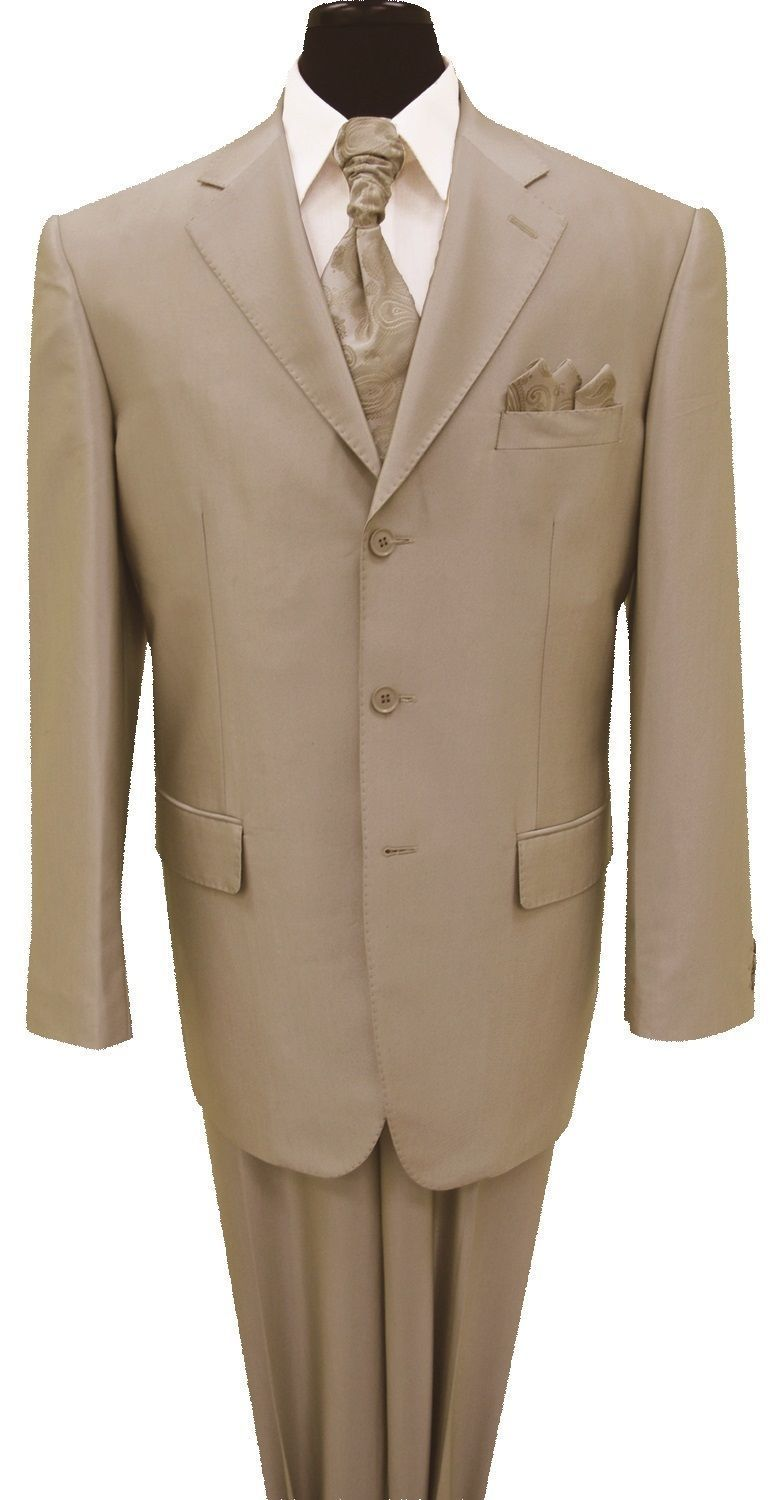 Milano Moda Men Suit 58025-Tan - Church Suits For Less