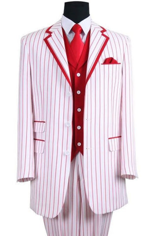 Milano Moda Suit 5908V-White/Red