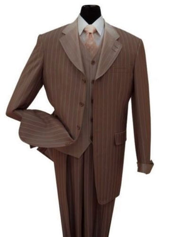 Milano Moda Suit 2911V-Brown