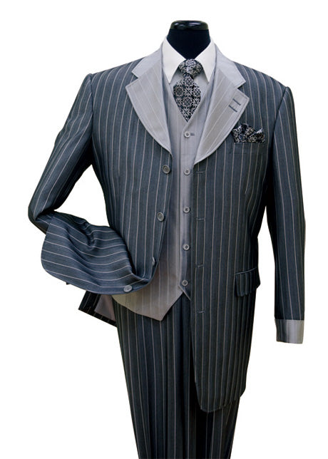 Milano Moda Suit 2911V-Navy - Church Suits For Less