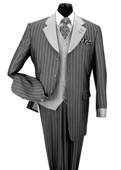 Milano Moda Suit 2911V-Soft Black - Church Suits For Less