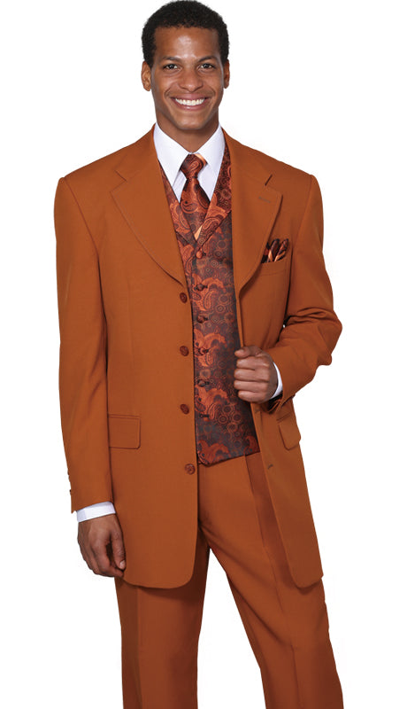 Milano Moda Suit 6903V-Rust - Church Suits For Less