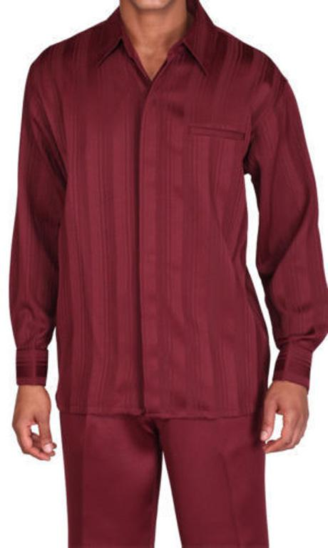 Fortino Landi Walking Set M2752-Burgundy - Church Suits For Less