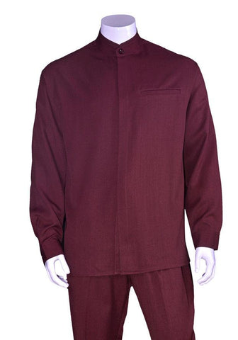 Fortino Landi Walking Set M2826-Burgundy - Church Suits For Less