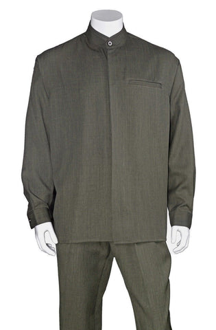 Fortino Landi Walking Set M2826-Olive - Church Suits For Less
