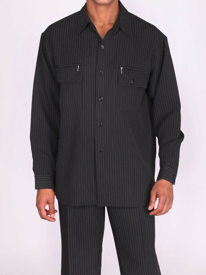Milano Moda Walking Set M2759C-Black - Church Suits For Less