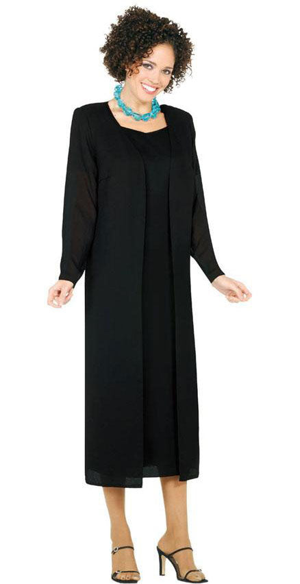 Misty Lane Usher Suit 13059-Black - Church Suits For Less