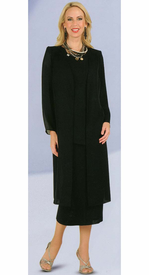 Misty Lane Usher Suit 13058-Black - Church Suits For Less