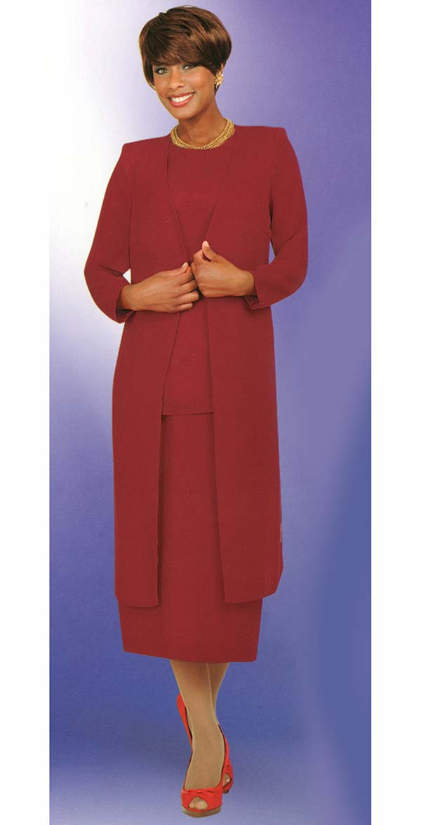 Misty Lane Usher Suit 13058-Red - Church Suits For Less