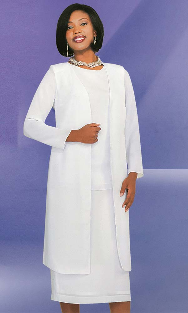 Misty Lane Usher Suit 13058-White - Church Suits For Less