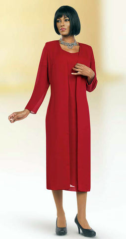Misty Lane Usher Suit 13059C-Red - Church Suits For Less