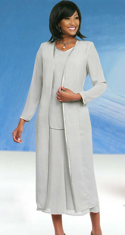Misty Lane Skirt Suit Suit 13061-Silver
