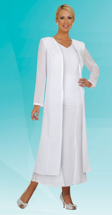 Misty Lane Skirt Suit Suit 13061-White - Church Suits For Less