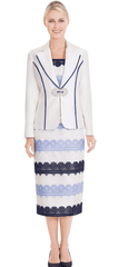Nina Massini Suit 2577-Ivory - Church Suits For Less