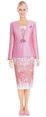 Nina Massini Suit 2582-Pink - Church Suits For Less