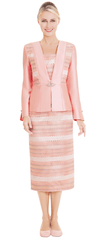 Nina Massini Suit 2584-Peach - Church Suits For Less