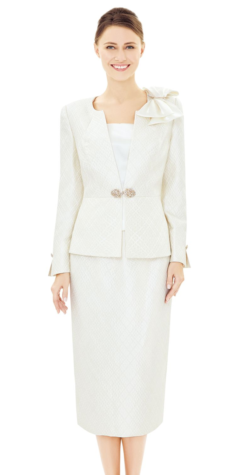 Nina Massini Suit 2503-Ivory - Church Suits For Less
