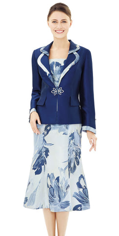 Nina Massini Suit 2504-Navy - Church Suits For Less
