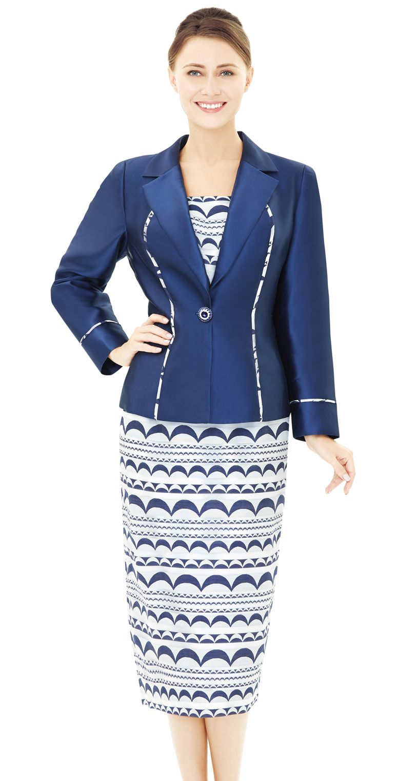 Nina Massini Suit 2532-Navy - Church Suits For Less