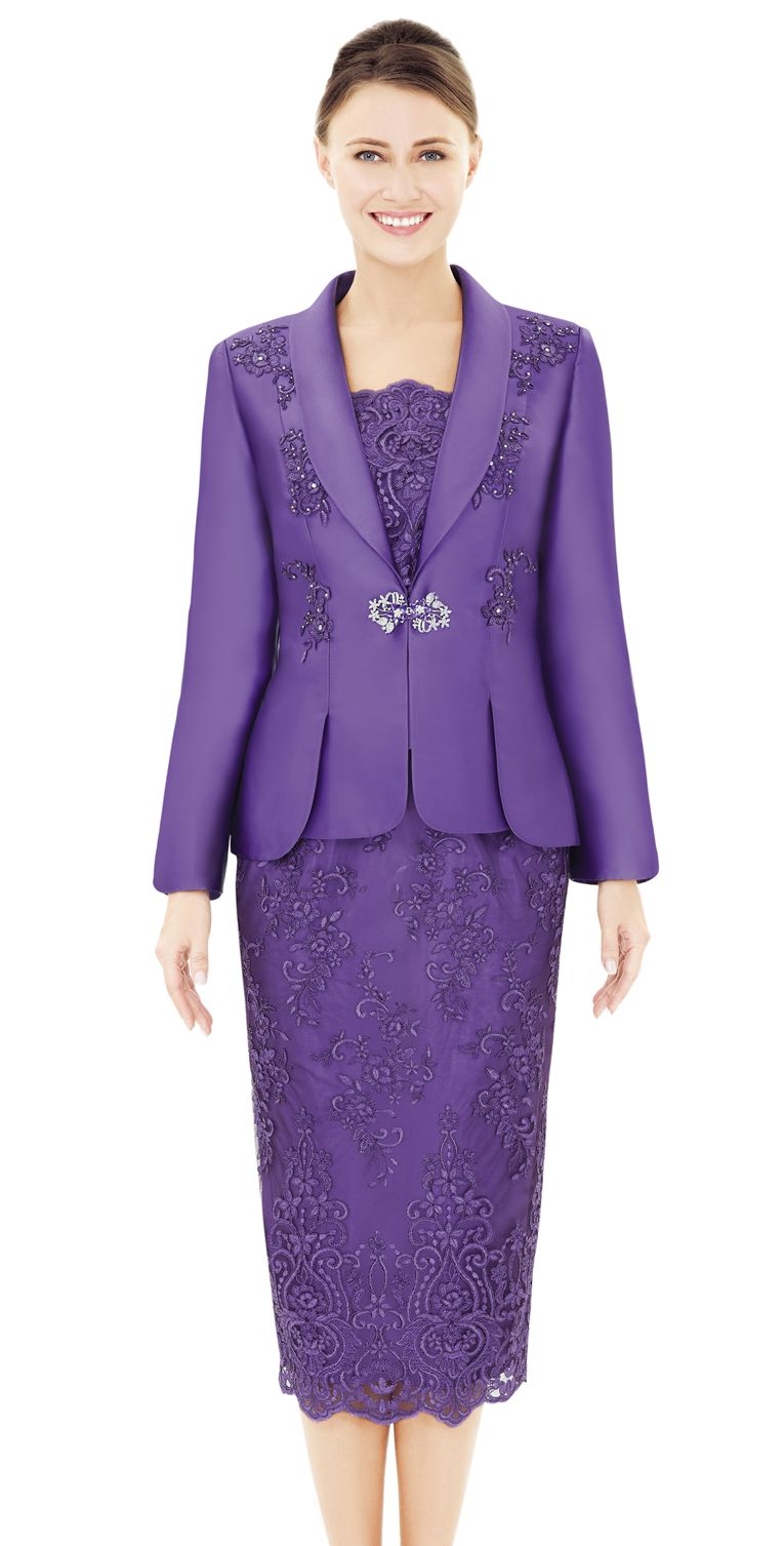 Nina Massini Suit 2537 - Church Suits For Less