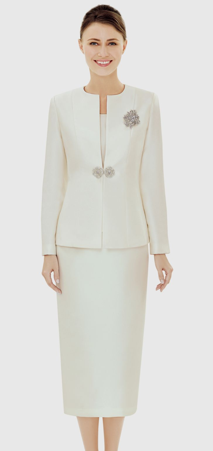 Nina Massini Suit 2538-Ivory - Church Suits For Less