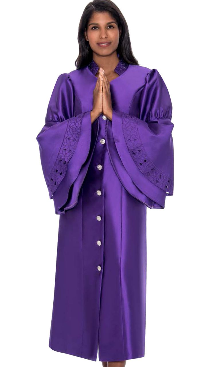 GMI Church Robe RR9111-Purple - Church Suits For Less