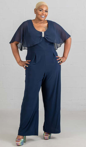 R&M Richards Jump Suit 5412W-Navy