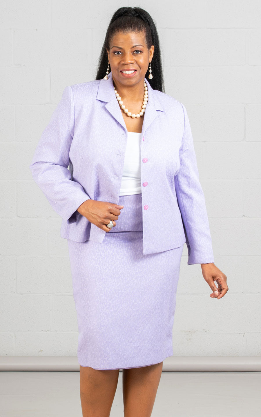 Women Business Skirt Suit 90600-Lilac - Church Suits For Less