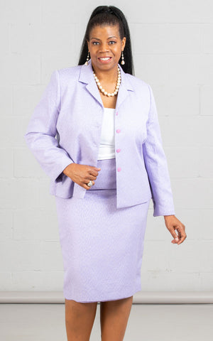 Women Business Skirt Suit 90600-Lilac