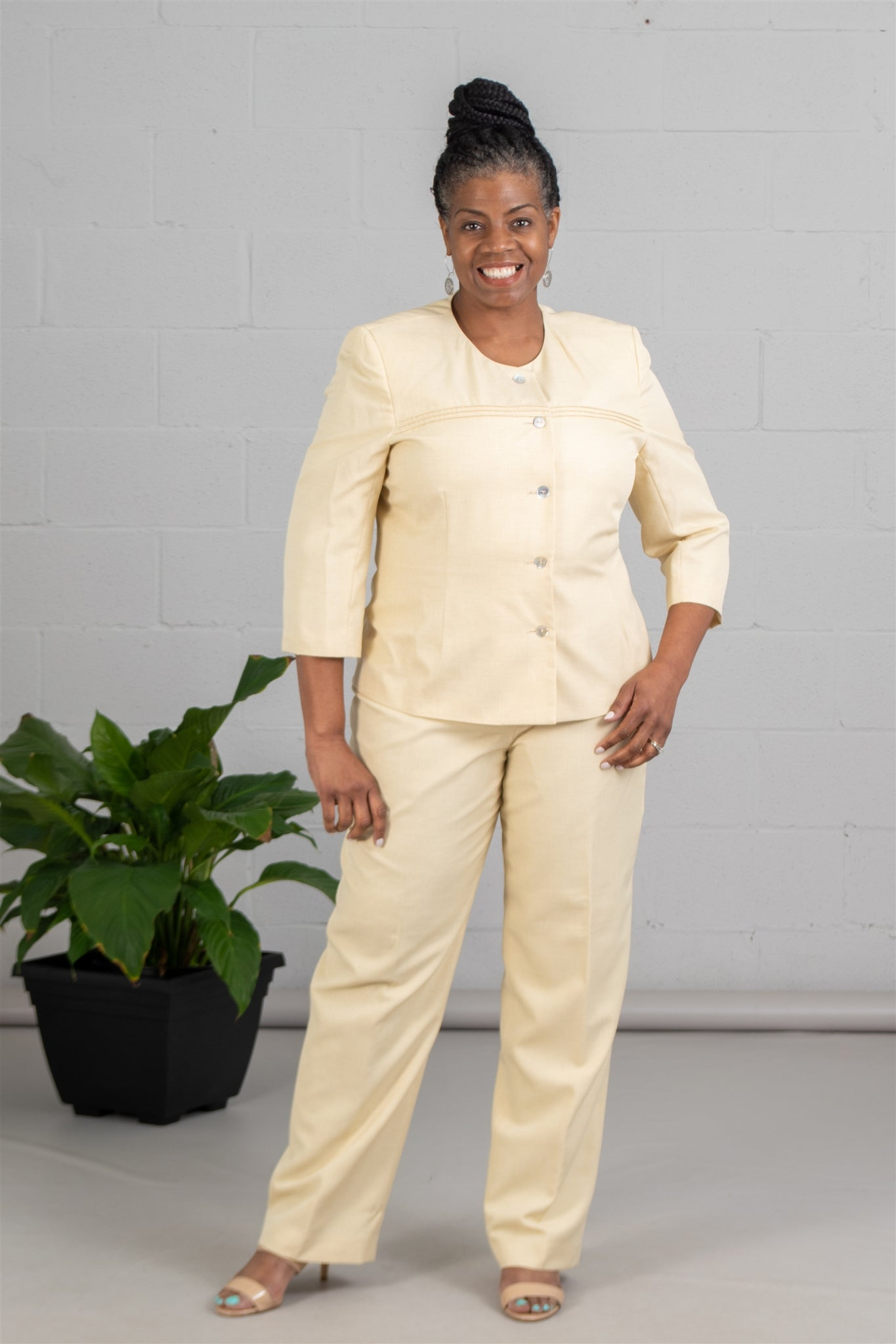Women Business Pan Suit 90325 - Church Suits For Less