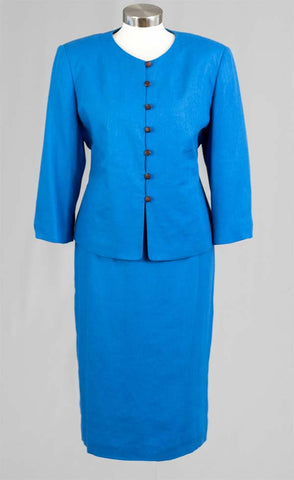 Women Business Skirt Suit 90350-Royal Blue