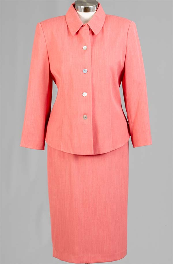 Women Business Skirt Suit 90361-Coral - Church Suits For Less
