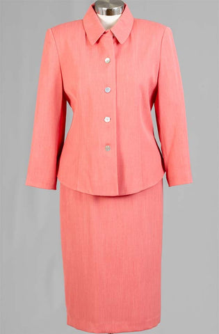 Women Business Skirt Suit 90361-Coral