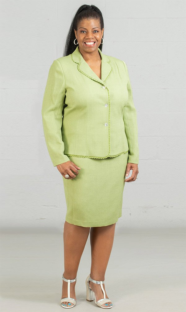 Women Business Skirt Suit 90507-Lime - Church Suits For Less