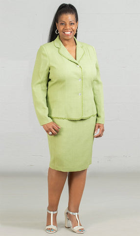 Women Business Skirt Suit 90507-Lime