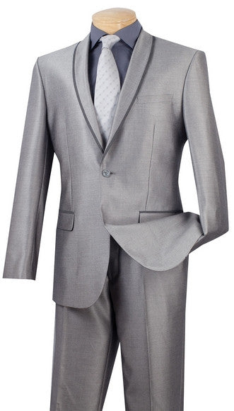 Vinci Men Suit SSH-1-Grey - Church Suits For Less